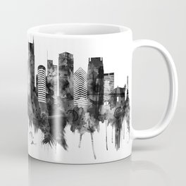 Nashville Tennessee Skyline BW Coffee Mug
