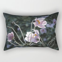 Bokeh Outline Bloom Rectangular Pillow