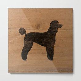 Standard Poodle Silhouette(s) Metal Print