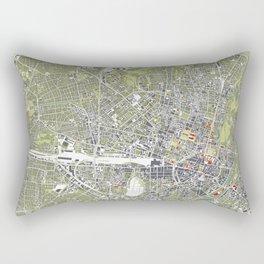 Munich city map engraving Rectangular Pillow