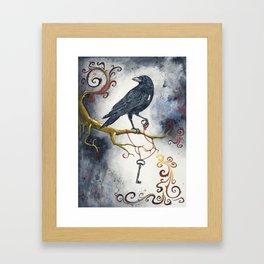 Heart Strings & Raven Wings Framed Art Print