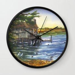 Lucas Wharf at Bodega Bay Wall Clock