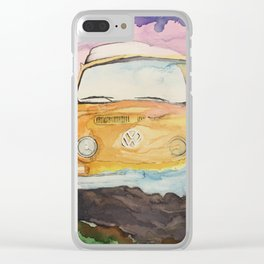Sunset of a bay Clear iPhone Case