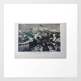 Turtle #13 (Solar Eclipse Mountain) [Cecilia Lee] Art Print