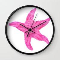 hawaiian Wall Clocks featuring Hawaiian Starfish by Teresa Chipperfield Studios