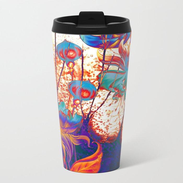 pop fuchsia Metal Travel Mug