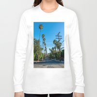 los angeles Long Sleeve T-shirts featuring Los Angeles by Luke Callow