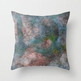 stained fantasy dark forest Throw Pillow