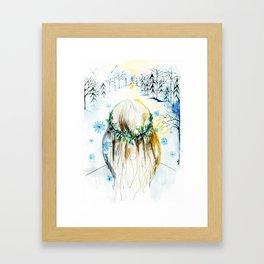 Winter Glow Framed Art Print