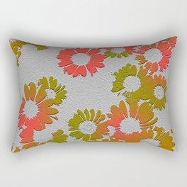 Emboss Floral Rectangular Pillow