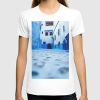 morocco T-shirts featuring Chefchaouen, Morocco by Petrichor Photo