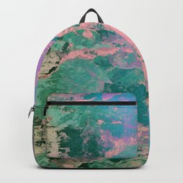 Pink and Green Paint Backpack
