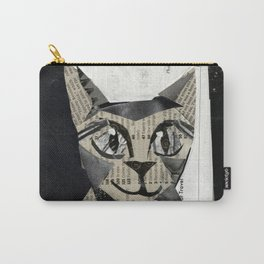 Newspaper Cat Carry-All Pouch