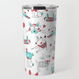 One dog and his friends Travel Mug