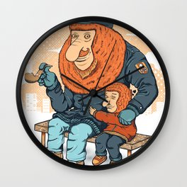 Miss You Dad Wall Clock