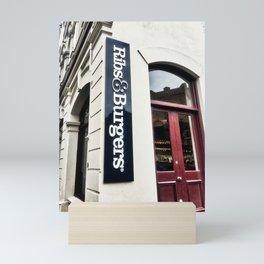 Ribs And Burgers Mini Art Print