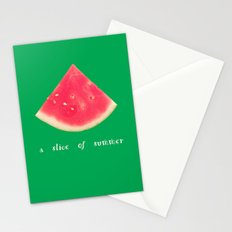 A slice of summer Stationery Cards