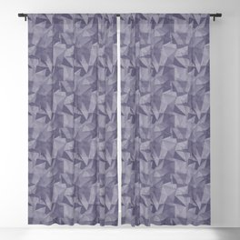 Abstract Geometrical Triangle Patterns 2 VA Mystical Purple - Metropolis Lilac - Dried Lilacs Blackout Curtain