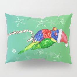 Rainbow lorikeet Christmas style Pillow Sham