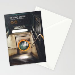 New York City Subway Portal to the Forest Stationery Cards