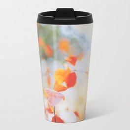 . Orange Leaves . Travel Mug