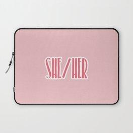She/Her Pronouns Print Laptop Sleeve