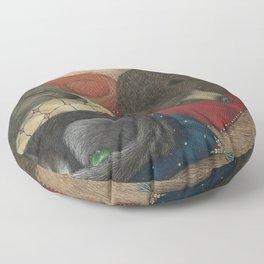 The Mitten - Sleeping Animals Floor Pillow