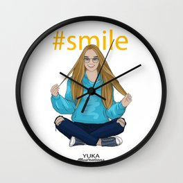 #smile Wall Clock