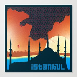 Istanbul Graphic - Square Canvas Print
