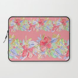 hawaiian flowers red pink Laptop Sleeve