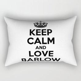 Keep calm and love BARLOW Rectangular Pillow