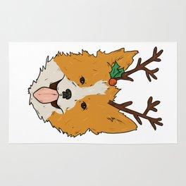 Christmas Corgi Rug