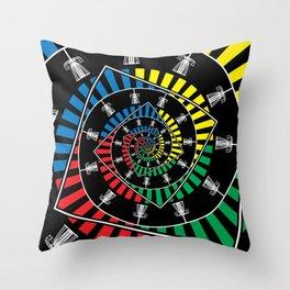 Spinning Disc Golf Baskets Throw Pillow