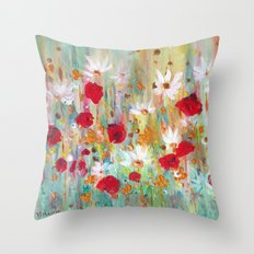 A summer meadow Throw Pillow