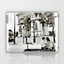 The Arc de Triomphe Paris Black and White Laptop & iPad Skin