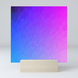 Purple, blue, and pink ombre flames Mini Art Print