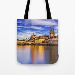 Panoramic Regensburg | Germany Tote Bag