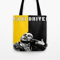 taxi driver Tote Bags featuring Travis Bickle Taxi Driver by Maxim Garg