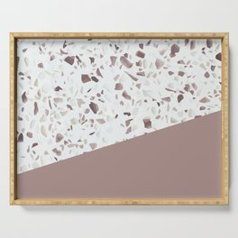 Terrazzo Texture Antique Pink #6 Serving Tray