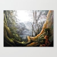 elf Canvas Prints featuring Elf by Cassie's Wonderland