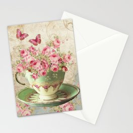 Tea Flowers #4 Stationery Cards
