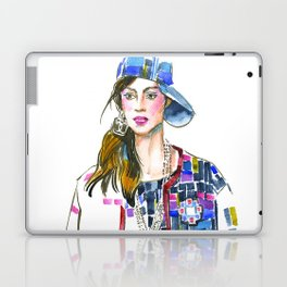 fashion #60: Woman in a suit with geometric pattern Laptop & iPad Skin