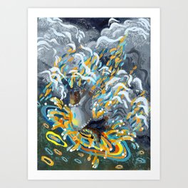 Joy of Rain Art Print