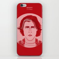 the breakfast club iPhone & iPod Skins featuring The Breakfast Club - Bender by Pri Floriano
