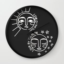 Live by the Sun, Love by the Moon Wall Clock