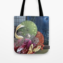 Moon Gazing Tote Bag
