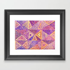 Handmade Abstract Background, Violet Dominant Framed Art Print