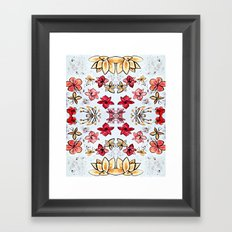 red and yellow flowers Framed Art Print