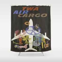Vintage poster - Air Cargo Shower Curtain