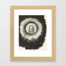 Odilon Redon - And in the disc of the sun the face of Christ shone Framed Art Print